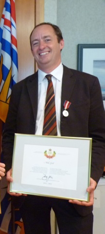 Mike Gill, chair of the CBMP was awarded the Queen's Jubilee Medal in honour of his commitment to Arctic biodiversity conservation. Joseph Culp was unable to attend the ceremony.