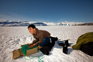 Preparations for ice fishing in Uummannaq, Greenland/ Photo: Lawrence Hislop, UNEP-GRID Arendal