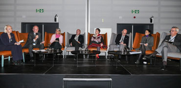 International linkages panel at the Arctic Biodiversity Congress. Photo: IISDRS