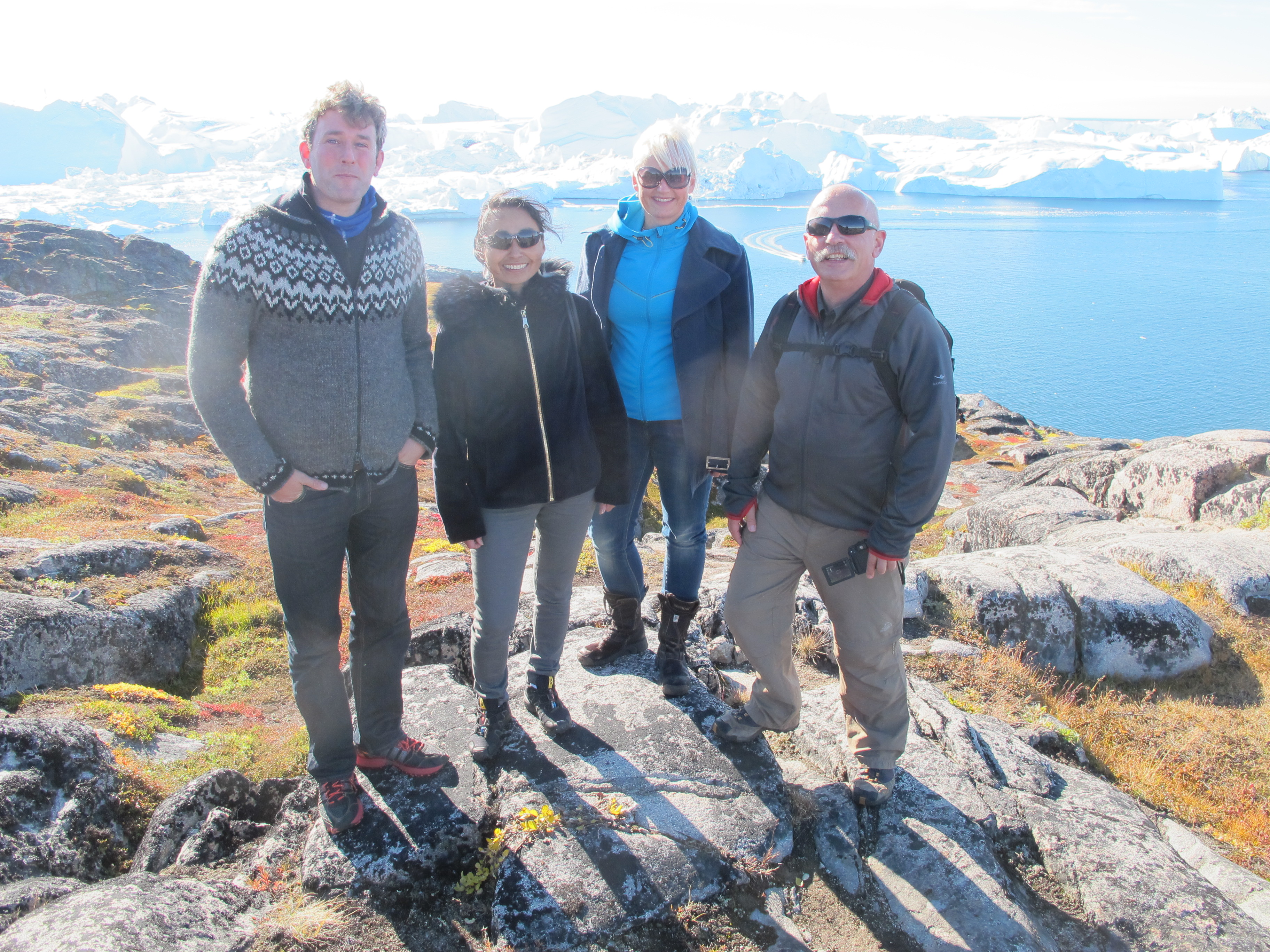 Tom Barry, CAFF, Miiti Lynge, Greenland Minister for Housing, Nature and the Environment, Inge Thaulow, Government of Greenland and Tobias Salathe, Ramsar Secretariat attend the NorBalWet meeting